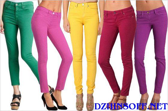 Различные цвета джинсовой одежды